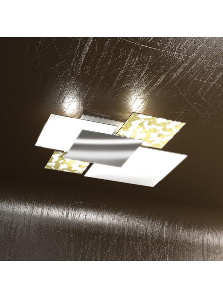 Modern ceiling lamp gold leaf 4 lights tpl 1088-pl70fo