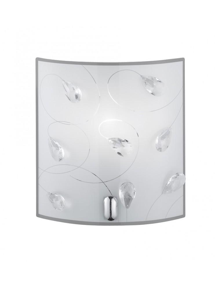 Glass wall light 1 light trio 202400106 carbonado
