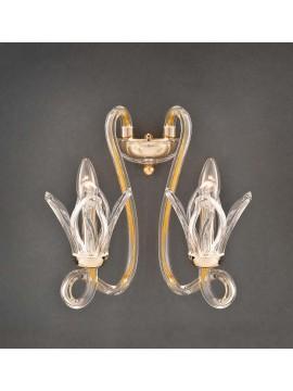 Applique in cristallo oro classico 2 luci Design Swarovsky Marcella