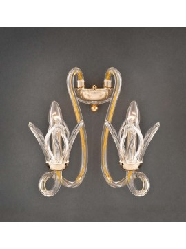 Classic gold crystal wall light 2 lights Design Swarovsky Marcella