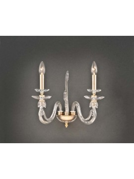 Classic gold crystal wall light 2 lights Design Swarovsky Zuela