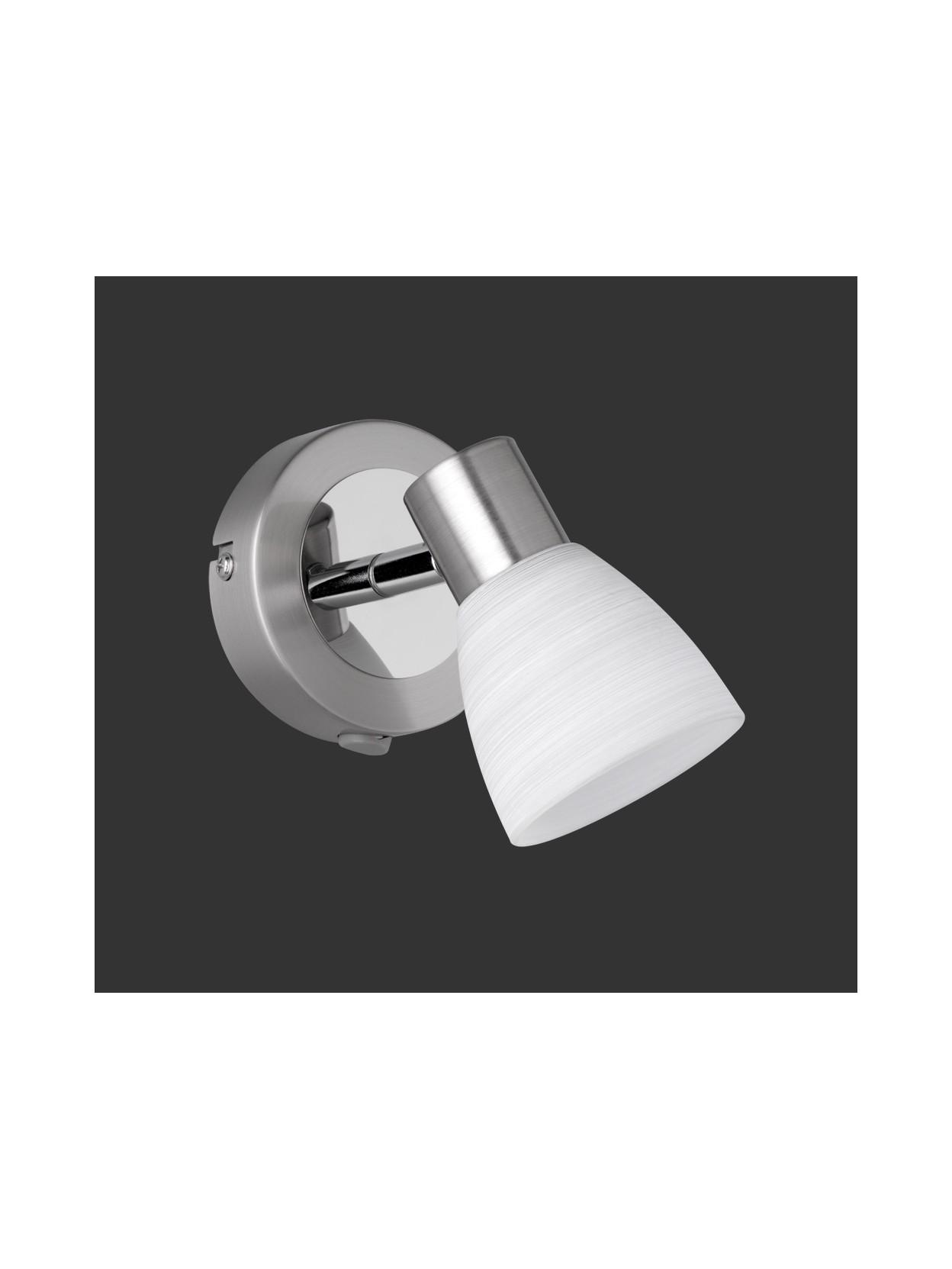applique spot a led vetro bianco trio 871570107 carico. Black Bedroom Furniture Sets. Home Design Ideas