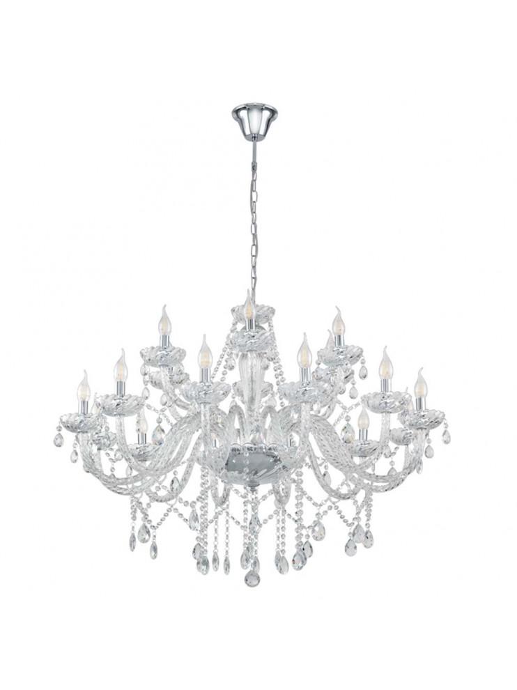 Modern chandelier in 18 lights crystal GLO 39103 Basilano