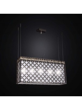 Contemporary wrought iron chandelier and BGA 2552 / S60 fabric