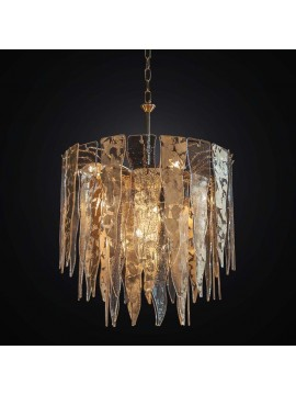 Contemporary chandelier in fused glass 6 lights BGA 2398/50