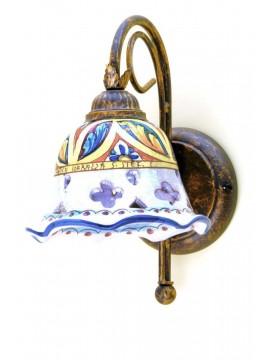 Applique rustico in ceramica siciliana 1 luce Stella