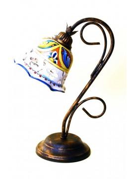 Lumetto rustico in ceramica siciliana 1 luce Stella