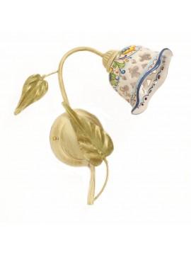 Applique rustico in ceramica siciliana 1 luce Nadia Destro