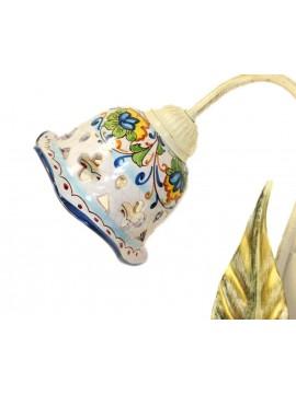 Applique rustico in ceramica siciliana 1 luce Nadia Sinistro