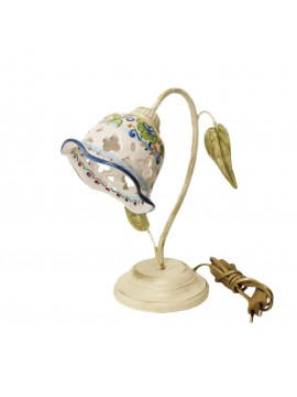 Lumetto rustico in ceramica siciliana 1 luce Nadia