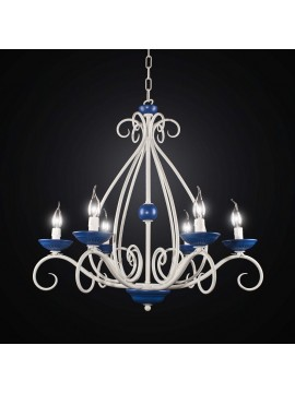 Contemporary chandelier in wrought iron 6 lights BGA 2546/6
