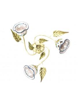 Plafoniera rustica in ceramica siciliana 3 luci Nadia