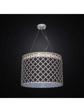 Lampadario contemporaneo in ferro battuto e tessuto 5 luci BGA 2541/S43