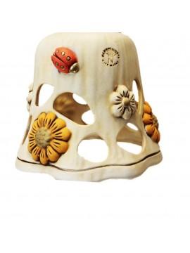 Plafoniera spot rustica ferro battuto con ceramica 1 luce Sofia