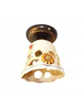 Rustic wrought iron spotlight with ceramic 1 light Sofia