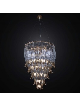 Contemporary glass fused 10 lights BGA 2612 / S60 chandelier