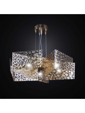 Contemporary glass fusion chandelier 5 lights BGA 2583/5