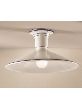 Rustic ceiling light in white-blue ceramic 1 light Maria-plm