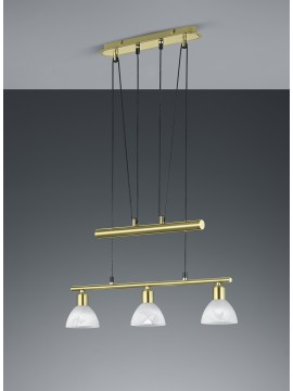Led chandelier brass trio 371010308 Levisto