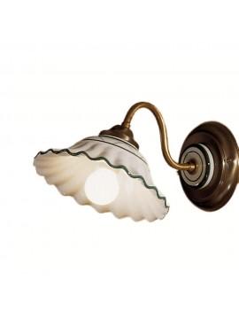 Applique rustico in ceramica bianco-verde 1 luce 2382-ap1