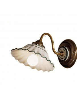 Rustic wall sconce in white-green ceramic 1 light 2382-ap1