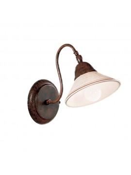 Applique rustico in ceramica bianco antico 1 luce Maria-ap1
