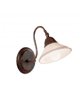 Rustic wall lamp in antique white ceramic 1 light Maria-ap1