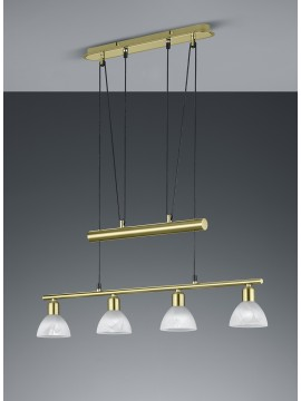 Led chandelier brass trio 371010408 Levisto