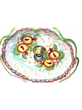 Rustic pendant in Sicilian ceramic 1 light Melograno