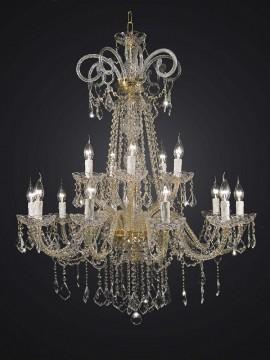 Swarovsky Design 2-Tier Crystal Chandelier 15 Lights BGA 1716