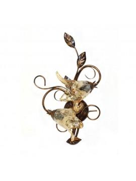Applique classico in ferro battuto 2 luci Florenz murano