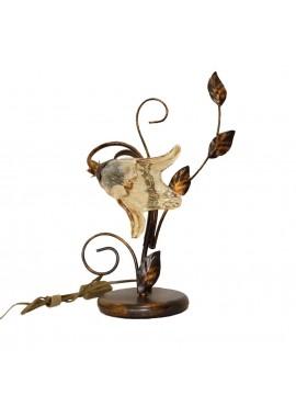 Lumetto classico in ferro battuto 1 luci Florenz murano destro