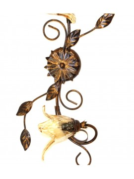 Classic wrought iron ceiling light 2 lights Florenz wall lamp