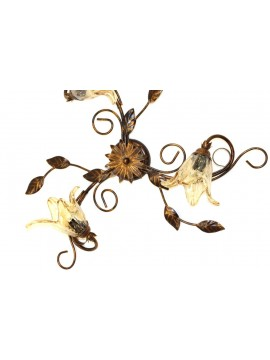 Classic ceiling lamp in wrought iron 3 lights Florenz wall lamp