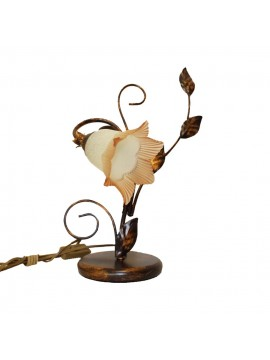 Classic table lamp in wrought iron 1 light Trilly right