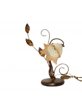 Classic table lamp in wrought iron 1 left Trilly light