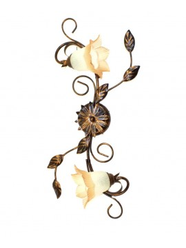 Classic ceiling lamp in wrought iron 2 lights Trilly