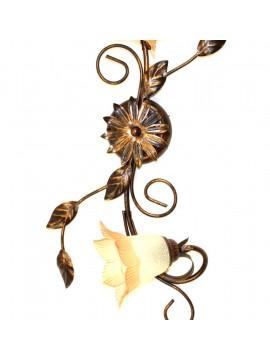 Plafoniera classica in ferro battuto 2 luci Trilly