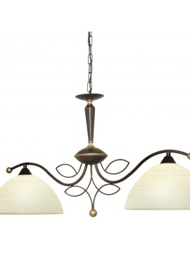 Classic barbell wrought iron 2 lights GLO 89134 Beluga