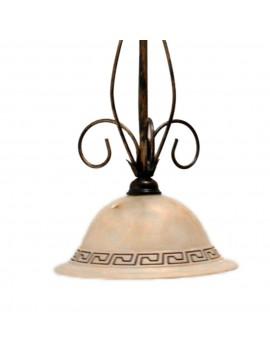 Lampadario classico in ferro battuto 1 luce Marmo