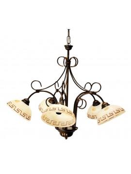 Lampadario classico in ferro battuto 5 luci Marmo