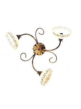 Plafoniera classica in ferro battuto 3 luci Marmo
