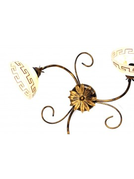 Classic ceiling light in wrought iron 3 lights Marble