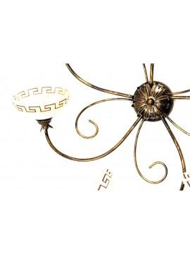 Plafoniera classica in ferro battuto 5 luci Marmo