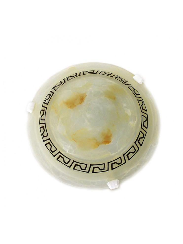 Plafoniera classica in vetro marmo 1 luce Forgiato d.30