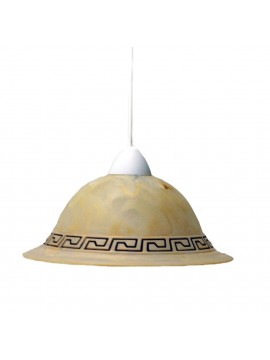 Classic suspension in marble glass 1 Forged light d.30