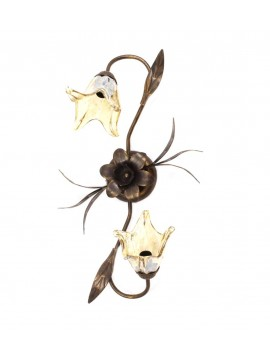 Classic ceiling light wrought iron 2 lights Martina