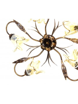 Classic ceiling light wrought iron 5 lights Martina