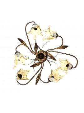 Classic ceiling light wrought iron 6 lights Martina