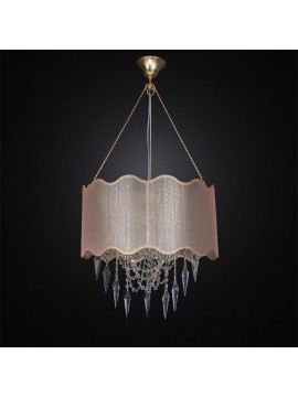 Contemporary crystal chandelier and fabric 3 lights BGA 2662 / S45